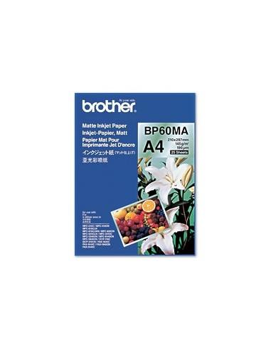 brother carta opaca a4 - bp60ma, bianco